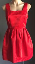 NWOT Retro Vibe SUNNY GIRL Red Sleeveless Pouf Dress Size10