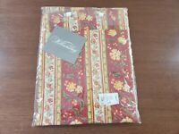 One NEW Williamsburg Red French Country Euro Pillow Sham