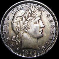 1892 Barber Quarter Dollar ---- GEM BU++ Condition Original Toned  ---- #F589