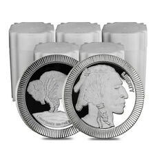 Sale Price - Lot of 100 - 1 oz Buffalo Stackable Silver Round .999 Silver (5