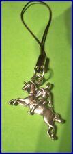 Pferd mit Reiter Handyanhänger Schlüsselanhänger Taschenanhänger NEU (E396)