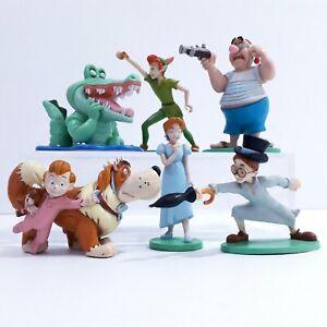 Disney Store Peter Pan Figures Wendy croc nana Michael John smee
