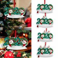 Cute ADD Name 2020 Xmas Christmas Tree Hanging Ornaments Family Ornament Decor