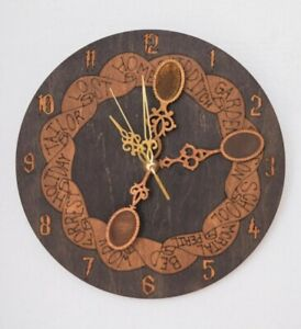 Weasley Wall Clock With Spoons