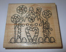 Gingerbread House Stampin' Up! Rubber Stamp Gumdrops Candy Canes Lollipop Retire