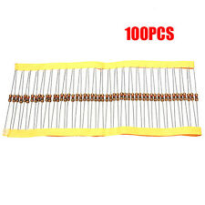 100 PCS 1/4W 0.25W 5% 1 K OHM Carbon Film Resistor 1st Class Postage UK AD