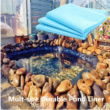 6 Sizes Fish Pond Liner Gardens Pools HDPE Membrane Reinforced Landscaping Blue