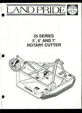 Land Pride 35 Series 5 6 Amp 7 Rotary Cutter Orig Parts List Amp Owners Manual