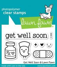 "Stempel ""Get Well Soon"" Lawn Fawn, Genesungswünsche, Medizin, Pflaster"