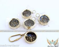 """NAUTICAL VINTAGE ANTIQUE STYLE SET OF 5 BRASS 1.5"""" COMPASS CAMPING AND HIKING"""