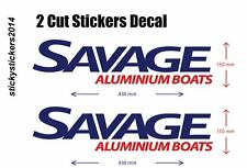 Boat Decal 2 Cut Decal Sticker Savage Aluminium Boats 430mmx150mm FAST DELIVERY