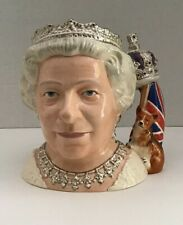 Royal Doulton Queen Elizabeth Ii Large Character Toby Jug D7256 2006 New Boxed