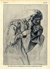 Peter Janssen Studie zu den Wandgemälden für das Schloß Burg a. d. Wupper v.1908