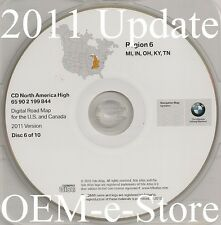 1997 to 2002 BMW 7 5 3 Series M3 M5 X5 Navigation CD Map #6 Cover MI IN OH KY TN
