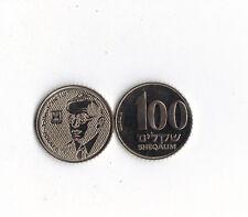 World Foreign Coins*ISRAEL*100 sheqalim  JE5745-1985*Zeev Jabotinsky*Lot F18*UNC