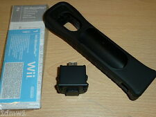 NINTENDO WII OFFICIAL GENUINE MOTIONPLUS ADAPTER BLACK + Case - NEW! Motion Plus