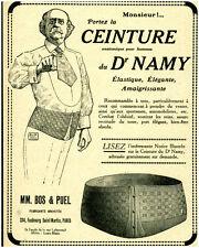 Publicité ancienne ceinture du Dr Namy 1920