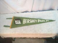 Vintage Hershey Park 50th Anniversary Felt Flag Pennant 1903 / 1953