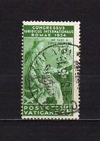 #1444 - Vaticano - 25 cent Congresso giuridico internazionale, 1935 - Usato