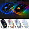 Wireless Mouse Slim Light-Up LED Battery Powered 2.4Ghz Optical Gaming For PC