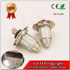 2X H7 150W High Power 3030 30 SMD LEDs Fog DRL White Light Bulbs  600LM DC12-24V