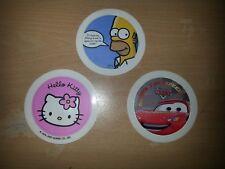 Conjunto De Tres Disco De Impuestos/titulares de permiso -- Hello Kitty/Homero Simpson/coches