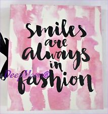 PHOTO ALBUM STORAGE HOLDS 180 4 X 6 PHOTOS - SMILES ALWAYS FASHION ... NEW