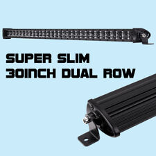 30inch 180W CREE 8D Super Slim Single Row LED Work Light Bar Offroad BWM SUV ATV