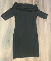 Jospeh Ribkoff Trends Black Midi Dress Size 6 With Buckle