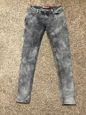 Apple Bottoms Jeans Womens Skinny Gray Acid wash Stretch Size 7/8