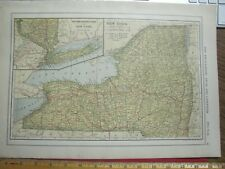 New Listing1907 New York New Mexico Colored Maps Showing Towns Physical Features Railroads