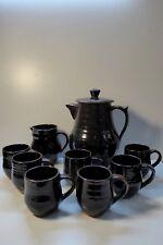 CYNTHIA MITCHELL COFFEE SET TEAPOT CUPS JUG AUSTRALIAN POTTERY STUDIO CERAMIC