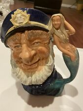 Vintage Royal Doulton Old Salt Toby Mug D.6551 With Mermaid Handle