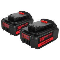 2X For Dewalt DCB205-2 DCB182 20V 4.0Ah MAX XR Lithium Ion Battery DCB204 DCB200