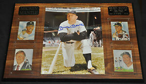 Mickey Mantle #7 The Mick Hall of Fame Autographed Plaque - (1974) ITB WH