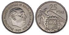 25 PESETAS (ESTADO ESPAÑOL). Ni. 1957*71. FRANCISCO FRANCO. UNC / SC. ATRACTIVA.