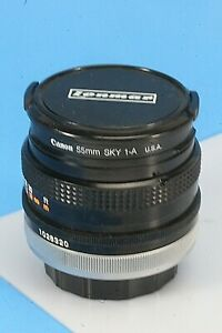 Vintage Canon FD 1:1.8 S.C., 50MM Camera Lens. With Canon Skylight 1-A Filter.