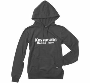 Women's Kawasaki Racing Hoody Factory Effex XL Heather Charcoal22-88136