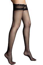 Bas voile nylon fins autofixants femme - Veneziana - 6 deniers