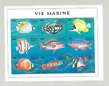 Mali #896 Fish 1v M/S of 9 Imperf Chromalin Proof