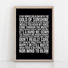 More details for grateful dead ripple song lyrics poster print wall art