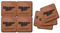 Gibb River Road Leather Coasters Packaged as a Set of 4 ea