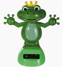 Solar personaje solar wackelfigur rana Frog con corona wichtelgeschenk artículos de broma
