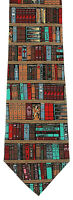 Pastor's Library Men's Necktie Religious Minister Priest Book 100% Silk Neck Tie