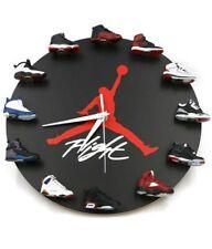 Air Jordan Flight 3D Sneaker Clock with 12 Mini Sneakers