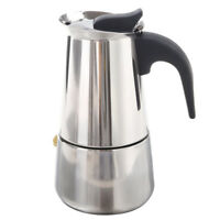 100ML Stainless Steel Coffee Maker Percolator Stove Top Pot M6T8