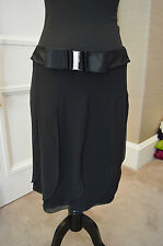 Women's Valentino black skirt with diamante bow belt. Size 10