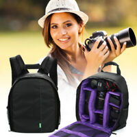 Camera Backpack Shoulder Bag Compact Photograph Waterproof for DSLR Nikon Canon