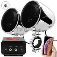 Waterproof Bluetooth Motorcycle Stereo Speakers Audio Radio System ATV UTV Cart