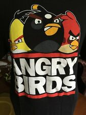 Angry Birds Men's Graphic T-Shirt  Black Size Large Mint Condition Shortsleeve L